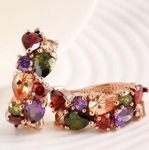 Multicolor  Zircon Crystal Earring